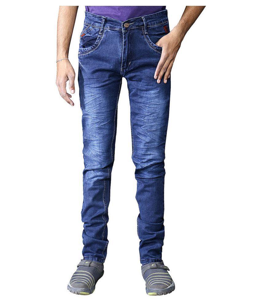 Ragzo Navy Blue Skinny Jeans