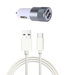 Manipar Car Mobile Charger DTB-RD696 White With USB Cable