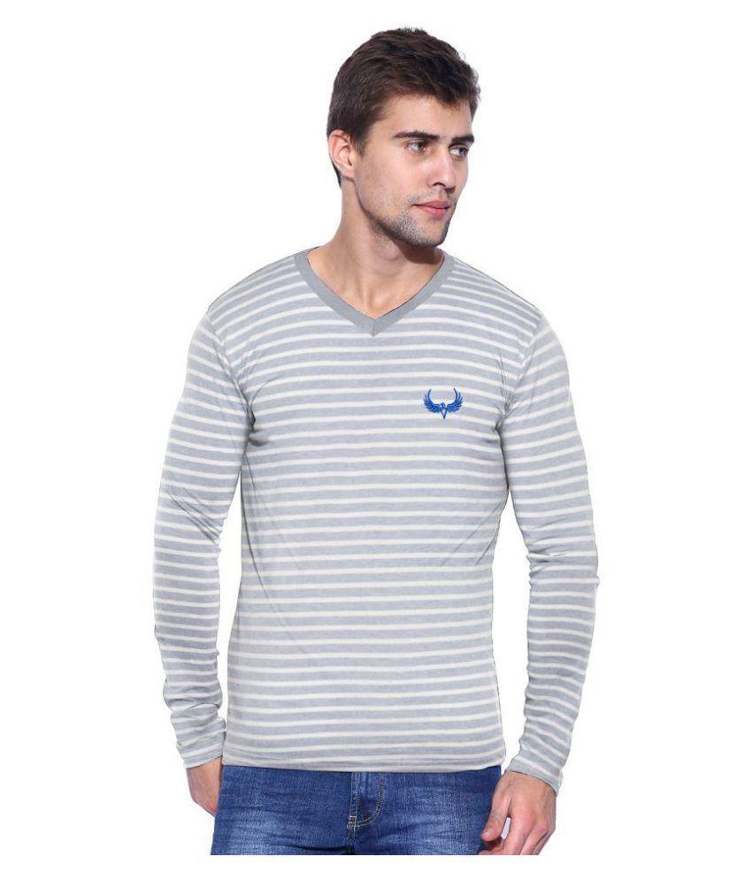 Avenster Grey V-Neck T-Shirt