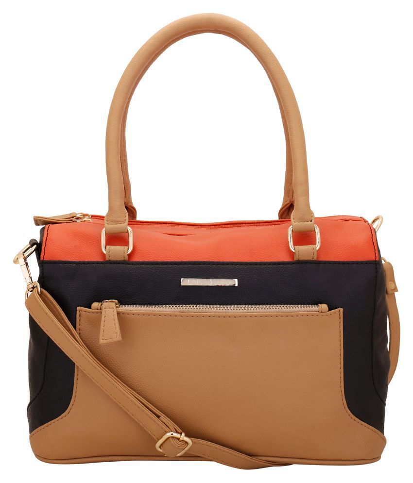 Lapis O Lupo Beige Faux Leather Handheld