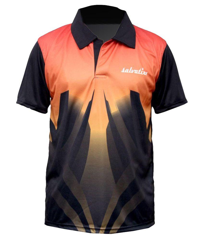 Salvatixx Black Polyester Polo T-Shirt Single Pack