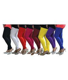 Aashish Fabrics Cotton Lycra Pack of 8 Leggings