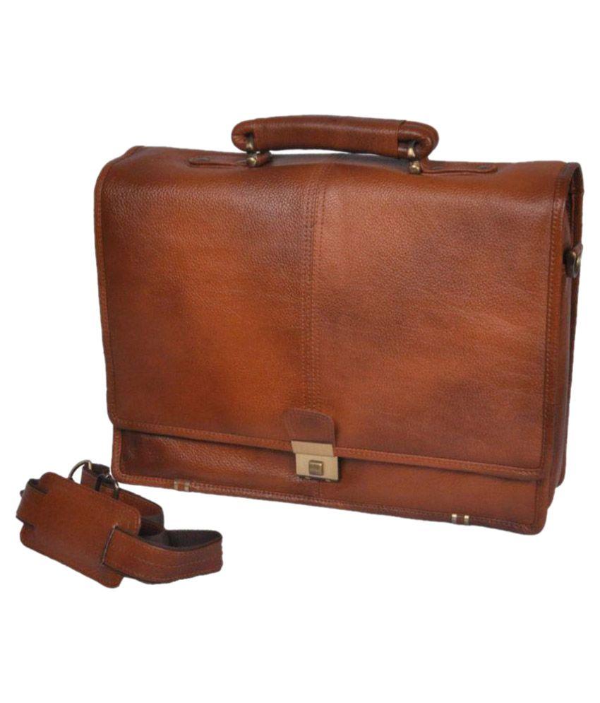 Bag Jack Medusae Tan Leather Office Bag
