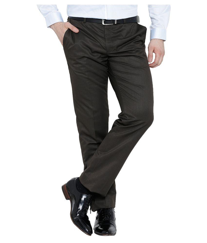 Blackberrys Black Regular Flat Trousers