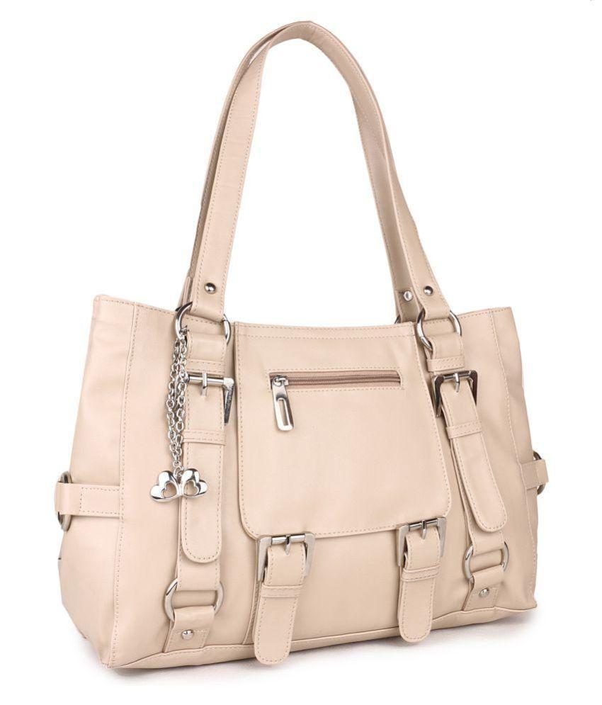 Ecco Beige P.U. Shoulder Bag