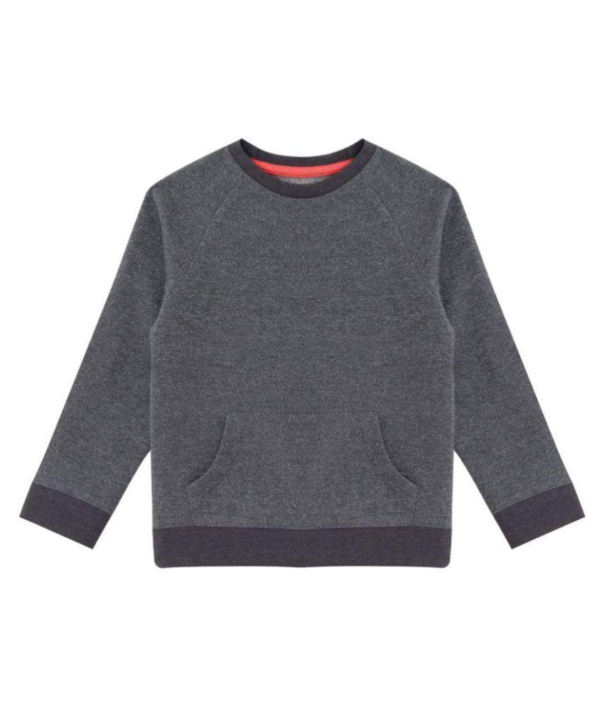 Minitog Gray Cotton Sweatshirt