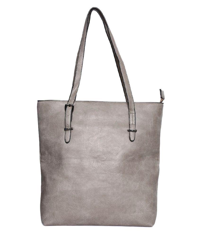 Vero Couture Gray P.U. Tote Bag