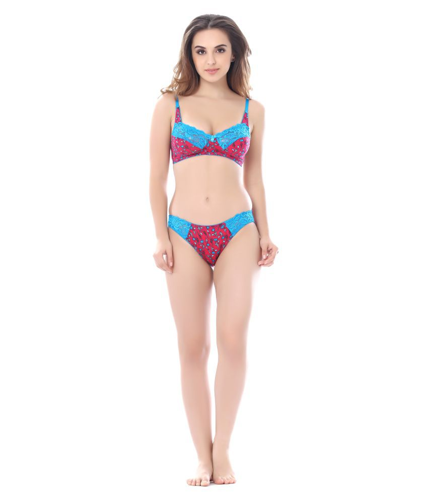 40fcf3f9de Buy Sunny Lace Bra and Panty Set Online at Best Prices in India - Snapdeal