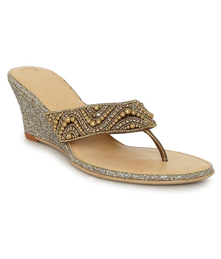 outlet nicekicks cheap sale professional CATWALK Gold Wedges Heels U6h1KSWmC