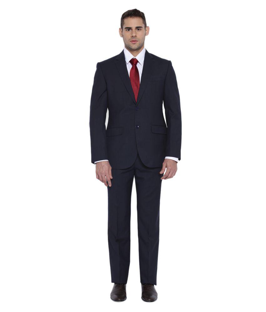Park Avenue Black Plain Formal Suit