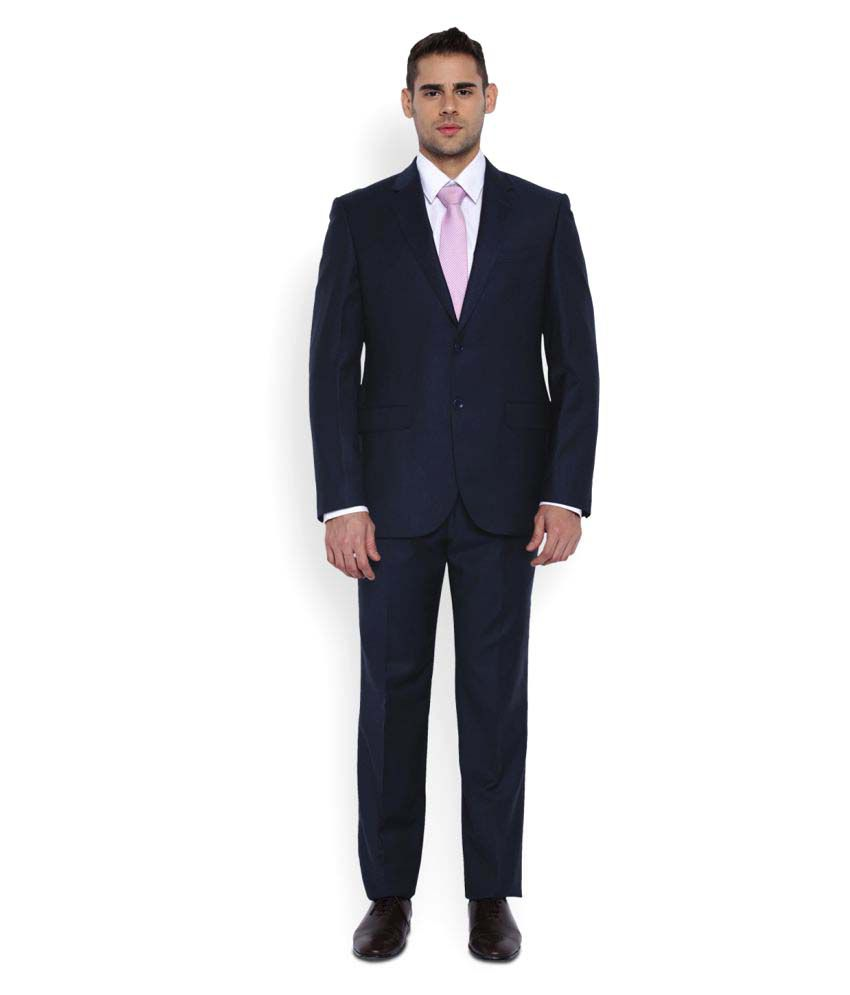 Park Avenue Blue Plain Formal Suit