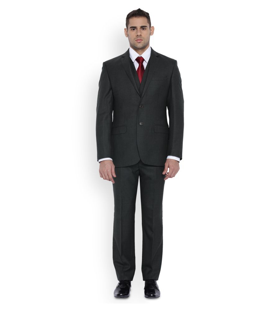 Park Avenue Grey Striped Formal Suit