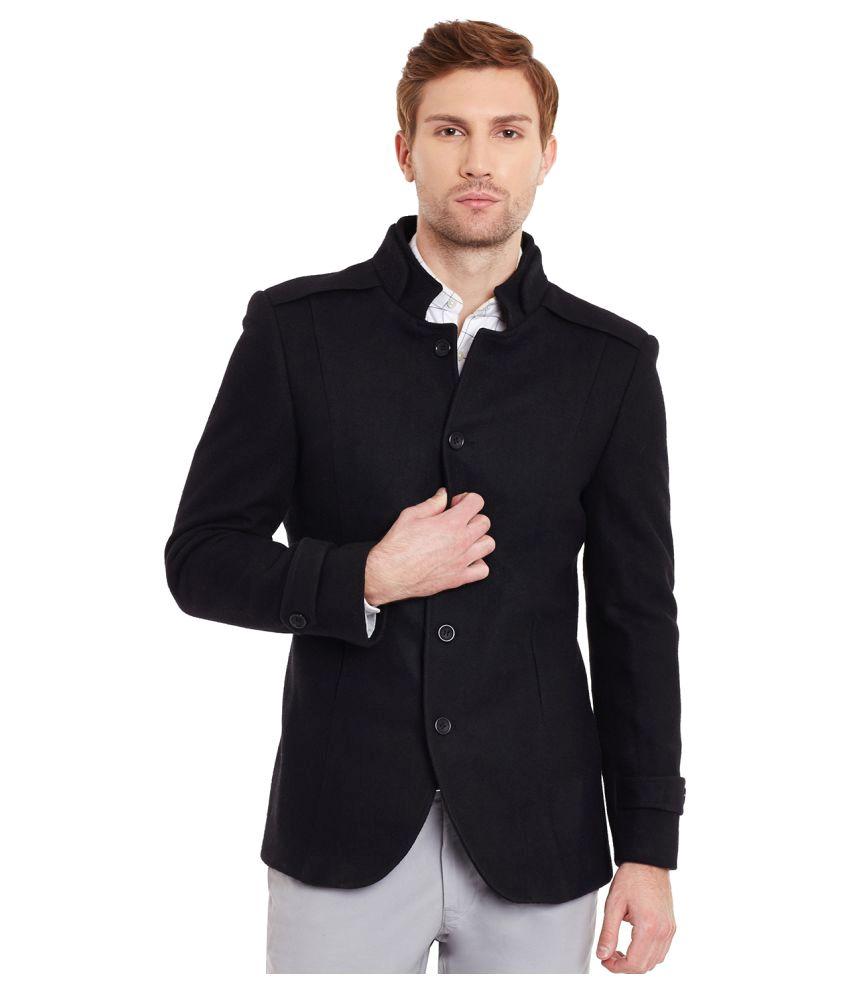 Envoy Black Solid Casual Blazers