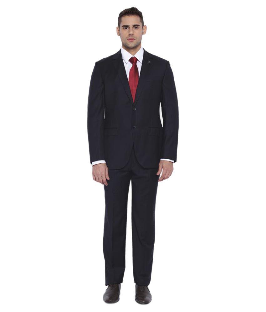 Park Avenue Navy Plain Formal Suit