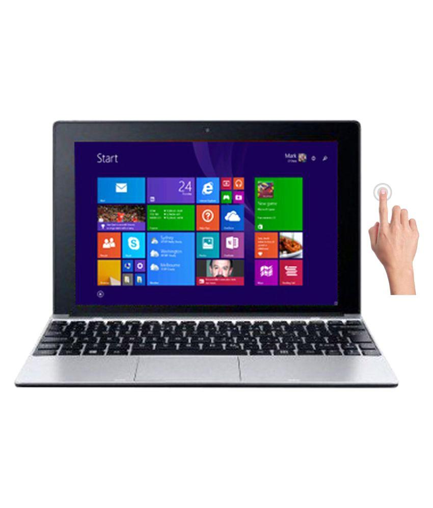 Acer S1001-19P0 2-in-1 Laptop (Intel Atom- 2GB RAM- 32GB SSD- 25.65cm(10.1) Touch- Windows 10) (Silver)