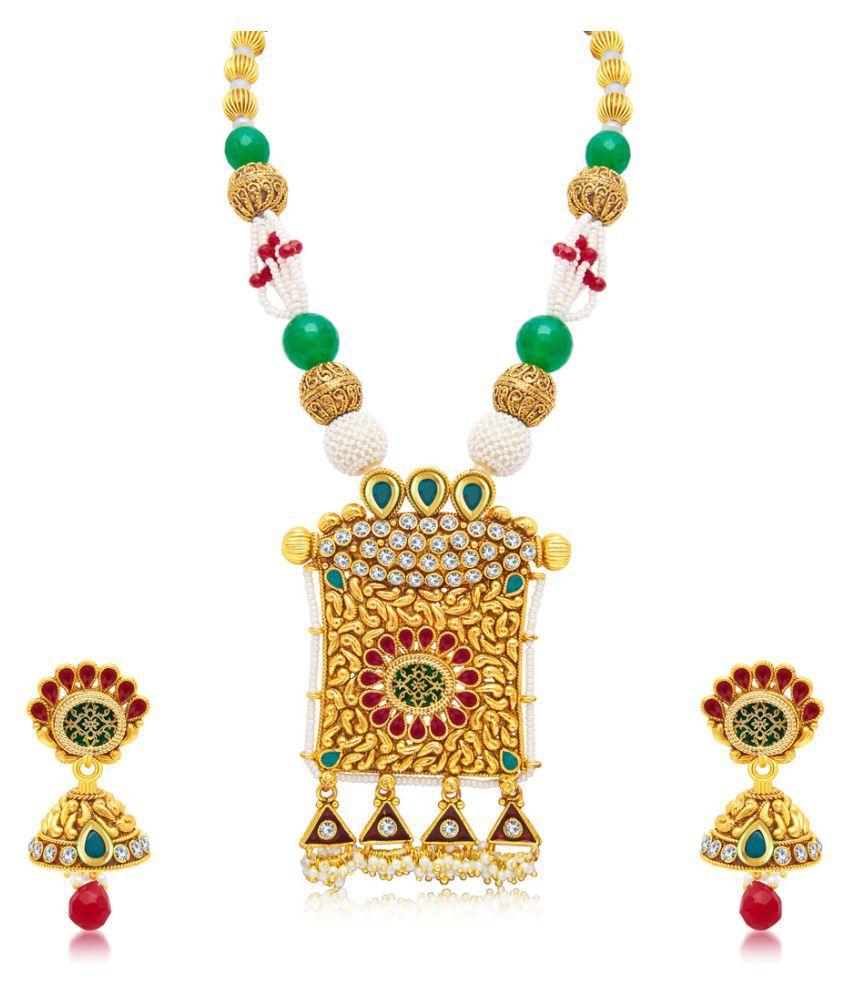 Sukkhi Golden Necklaces Set