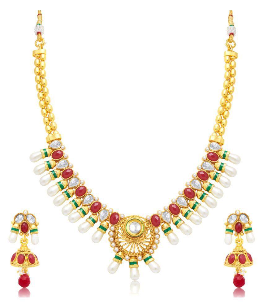 Sukkhi Multicolour Copper Necklace Set
