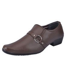 Fausto Tan Slip On Non-leather Formal Shoes
