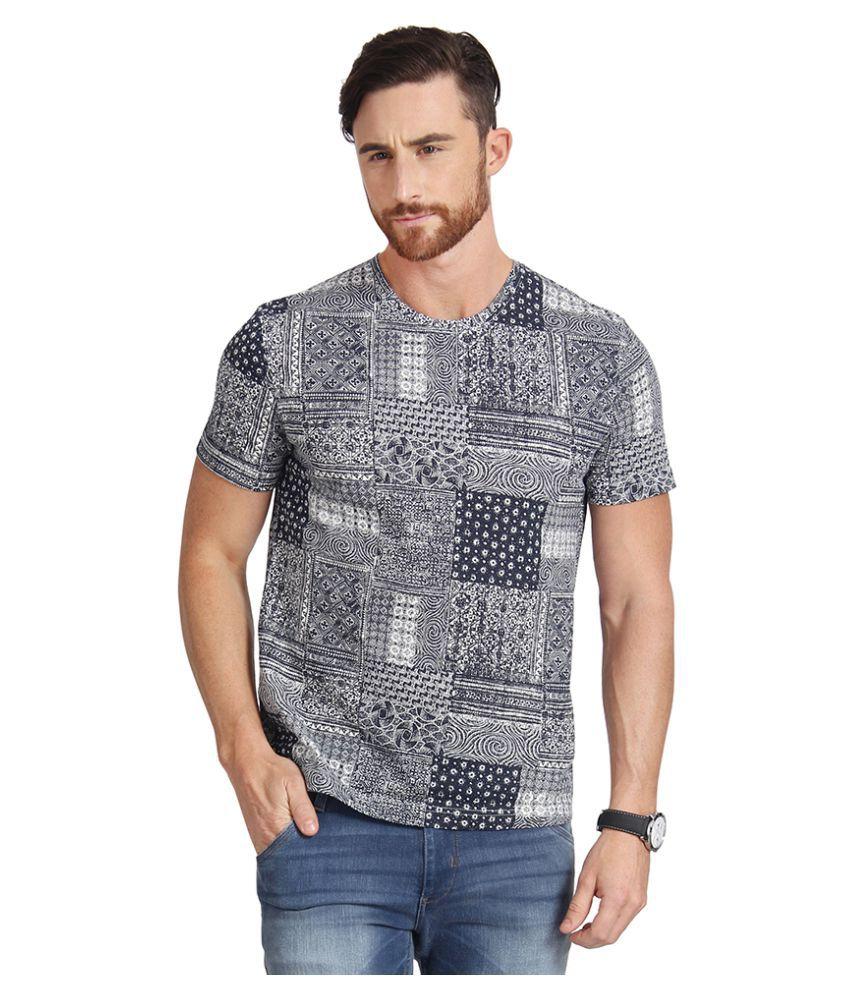 Slub Multi Round T-Shirt