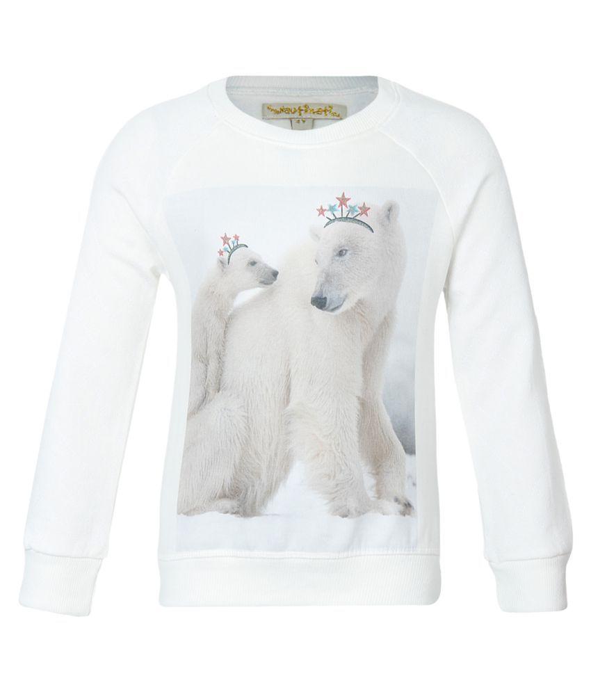 Nauti Nati White Crew Neck Sweatshirt