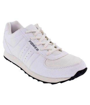 Bata Power White Running Shoes - Buy