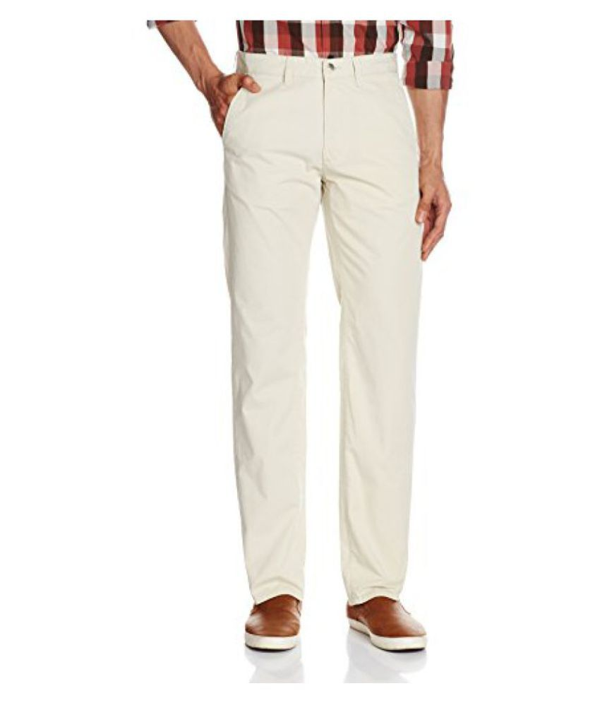 Peter England Mens Casual Trousers