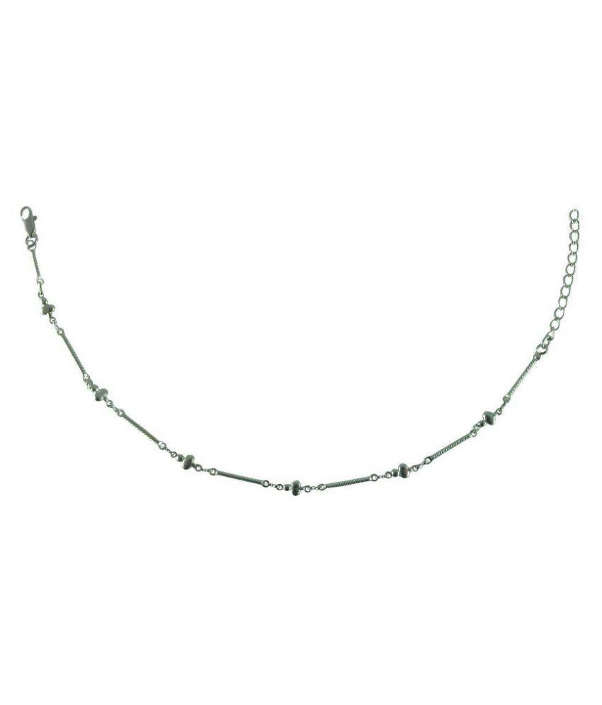 Rejewel Silver Anklet for Women