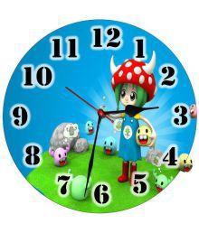 3d India Circular Analog Wall Clock - Animated Girl 30