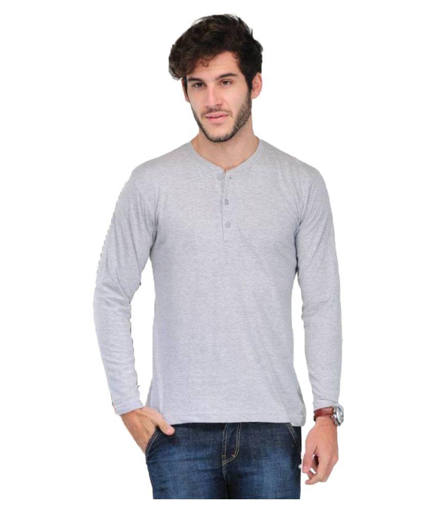 Van Galis Grey Henley T-Shirt
