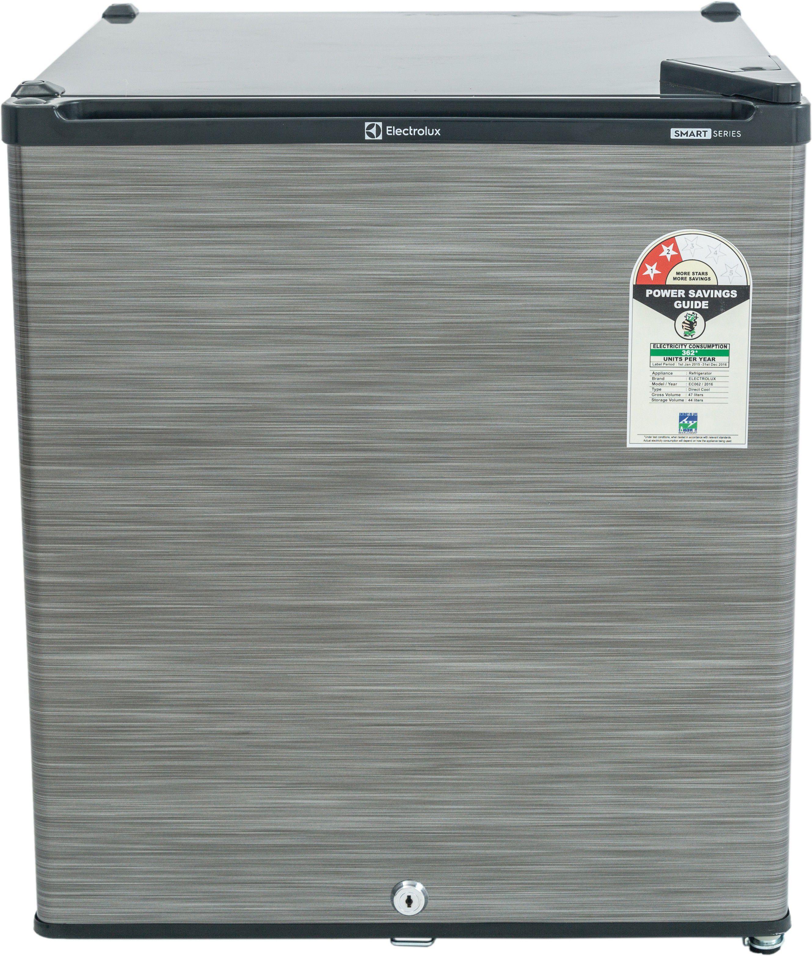 Electrolux 47 Ltr EC060PSH/EC062PBH Direct Cool Refrigerator Silver / Black Hairline