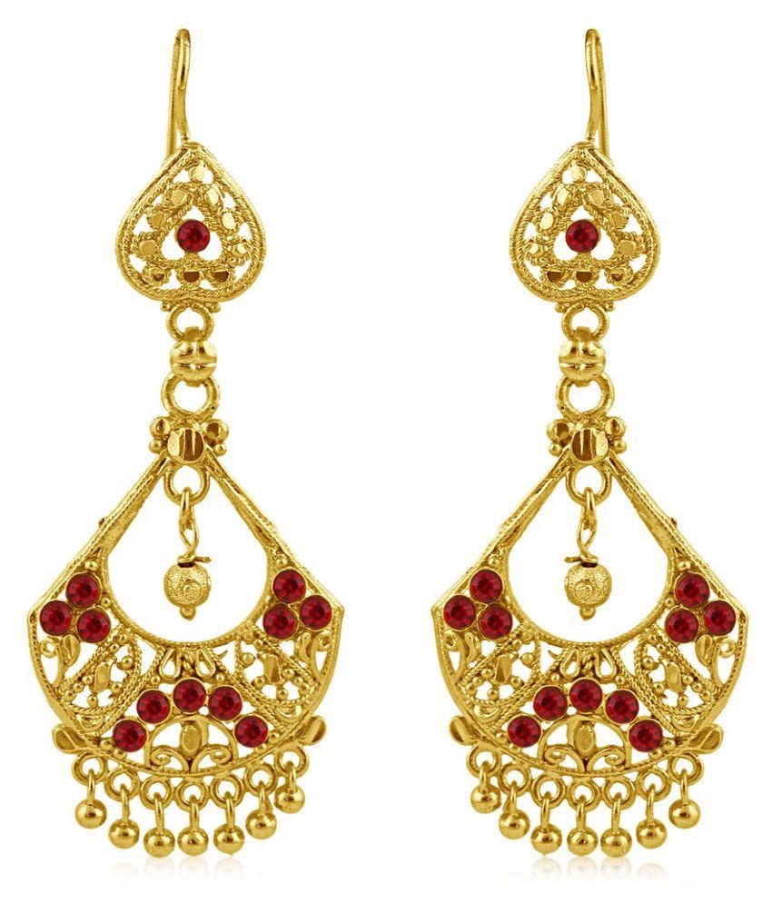 Sukkhi Golden Hangings