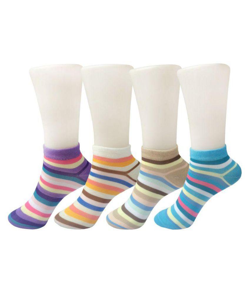 Stylefolio Multicolour Ankle Length Socks (4 Pair)