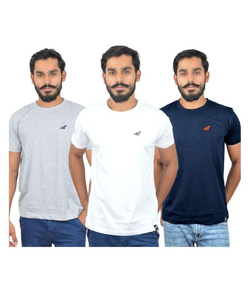 Lincoln Spear Multi Round T-Shirt Pack of 3