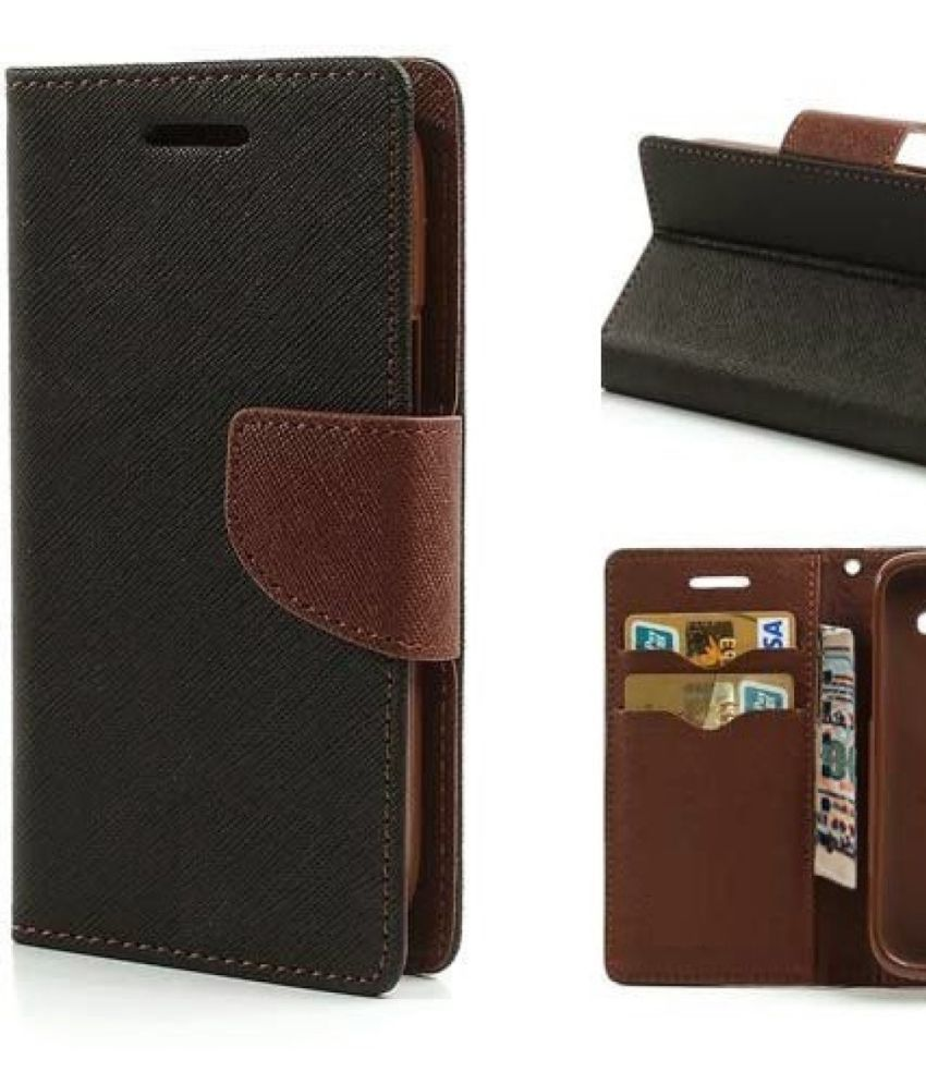 Moto G2 Flip Cover by MV - Brown