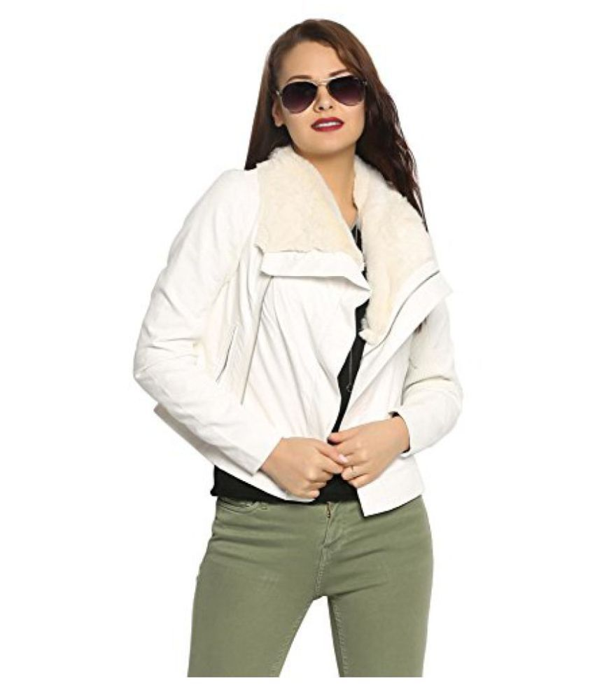 7f3c765fa02 Buy abof Women White Winter Jacket Online at Best Prices in India - Snapdeal