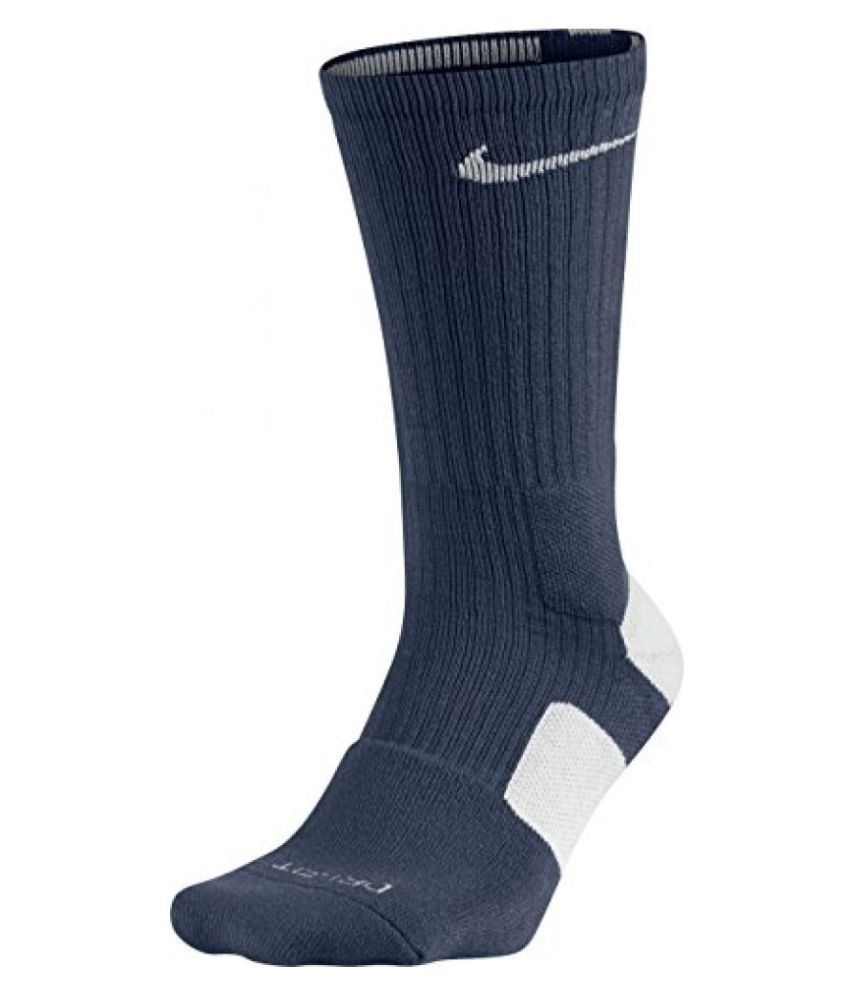 Nike Elite Basketball Crew Socks Small (Shoe Size 4 6), Navy / White
