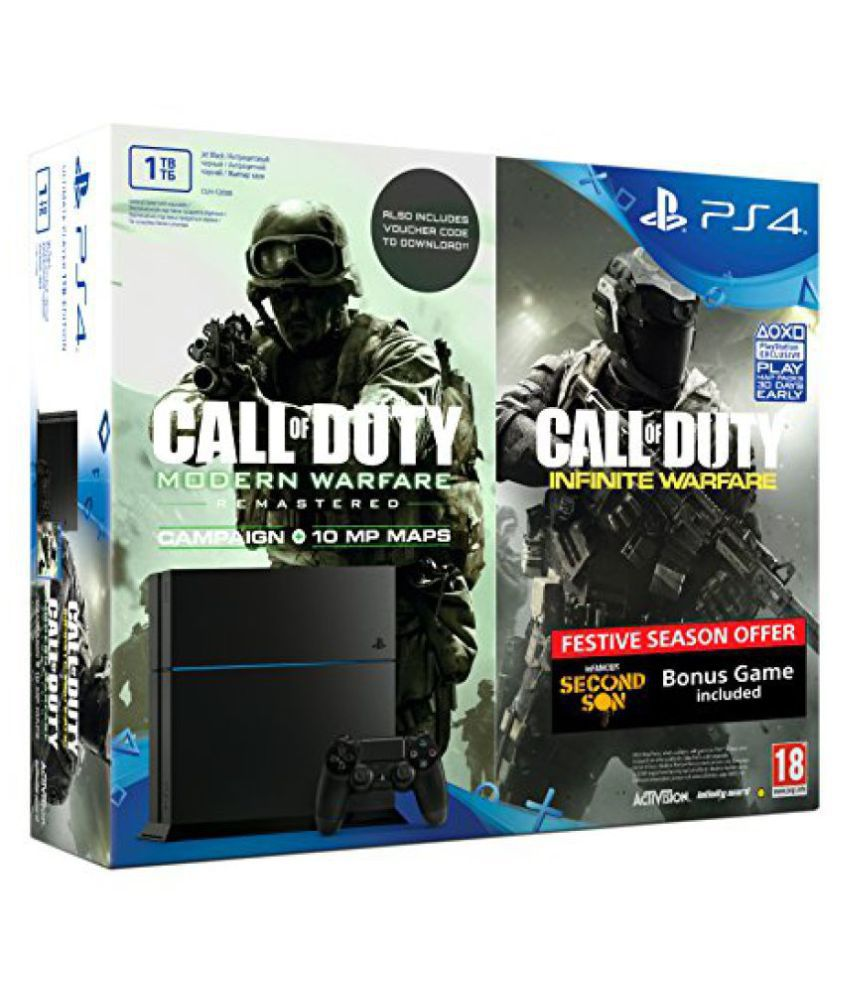 Sony PS4 1TB Console (Free Games: COD - IW, COD - MW and Infamous Second Son)