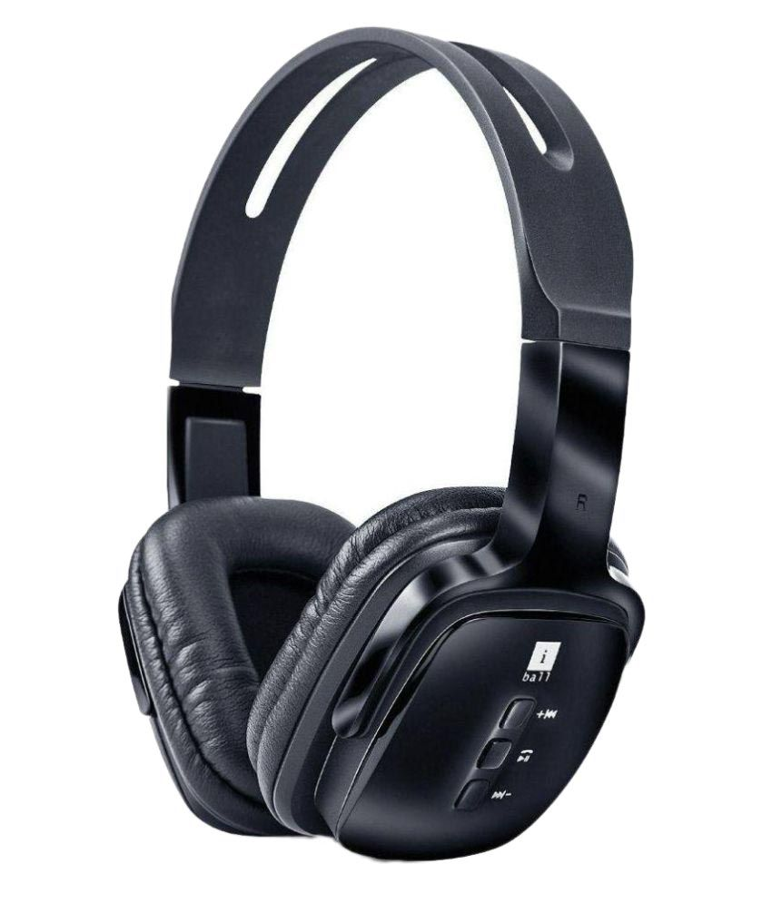iBall BT4 Over Ear Wireless With Mic Headphones/Earphones