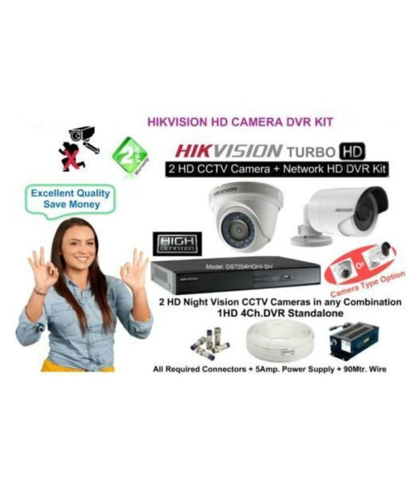 1f53bdbdb0c Hikvision High Definition 4 Channel 2 CAM CCTV Camera DVR Kit Price in  India - Buy Hikvision High Definition 4 Channel 2 CAM CCTV Camera DVR Kit  Online on ...