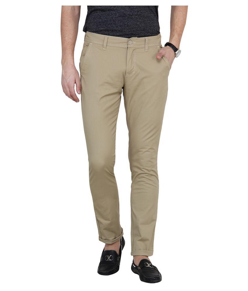 Pepe Jeans Beige Slim Flat Chinos