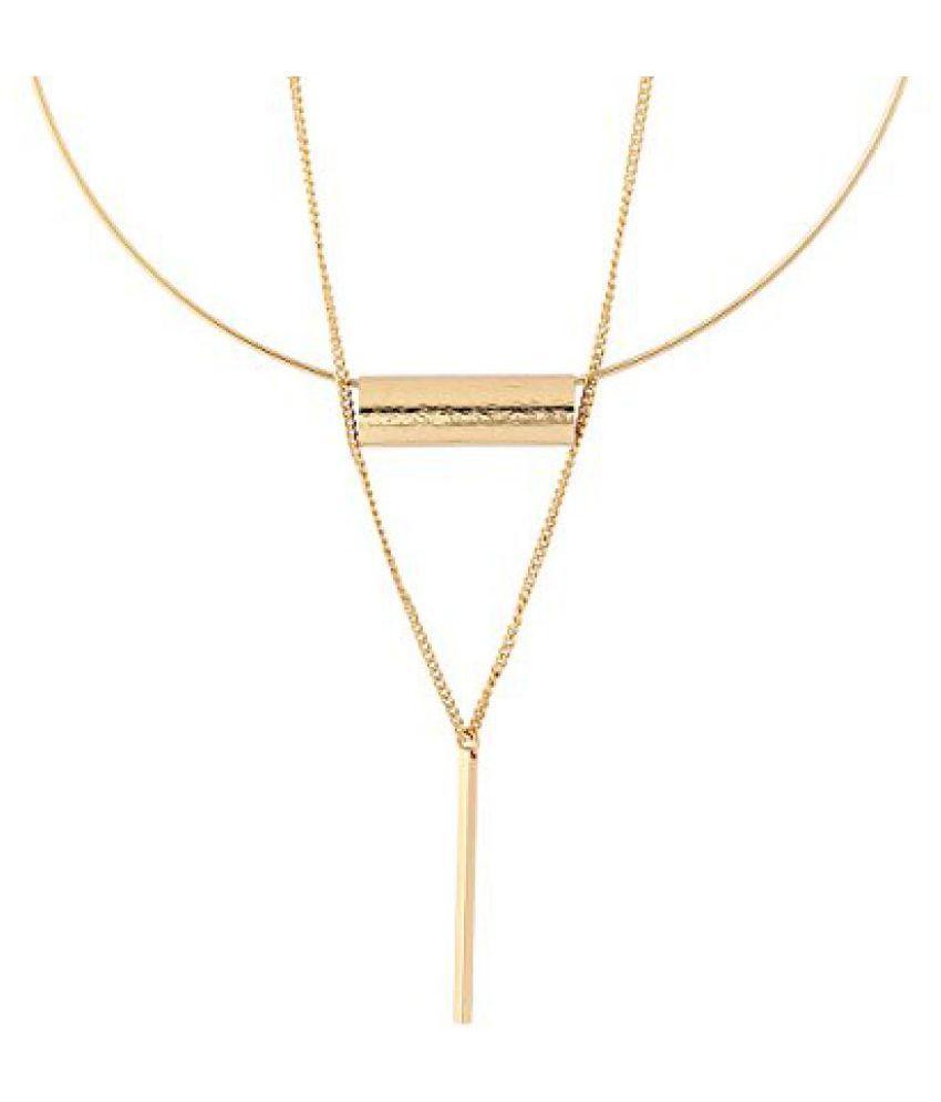 Voylla Round Necklace In Gold-Tone