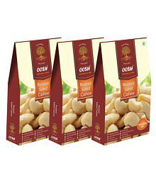 OOSH Roasted Salted Cashew 750g Salted Cashew Nut (Kaju) Roasted Salted 750 Gm Pack Of 3