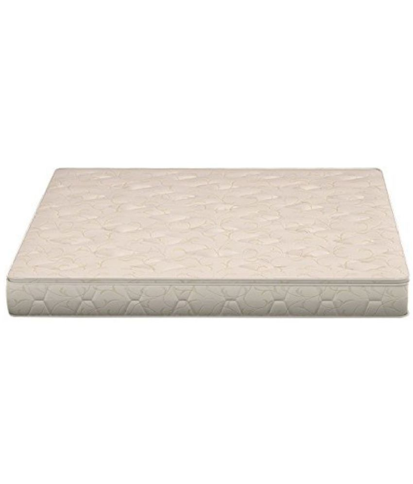 sleepwell glory mattress 78 x 72 x 5 5 inches off white buy