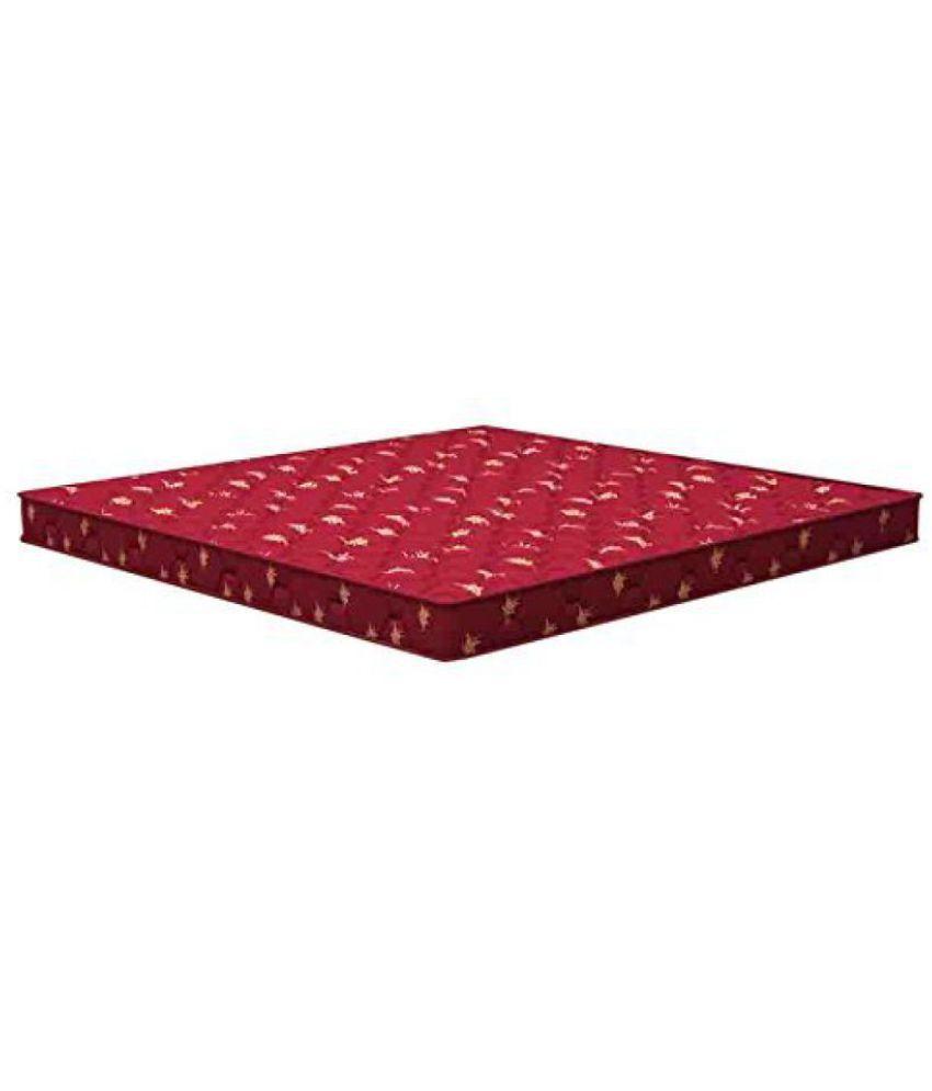 sleepwell resitec gold plus mattress 72 x 72 x 4 5 inches maroon