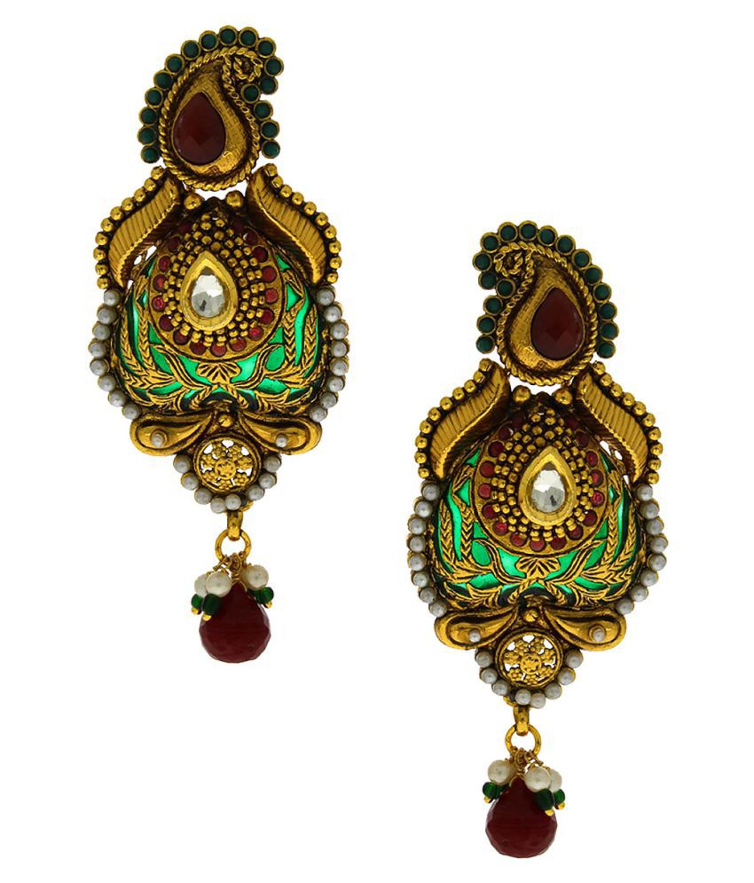 Anuradha Art Multicolored Traditional Earrings