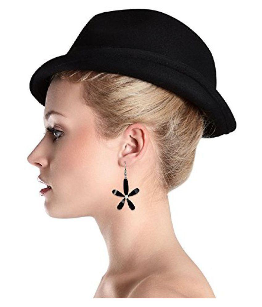 Jewels Galaxy Black Floral Luxuria Designer Earring Italian Design Workwear