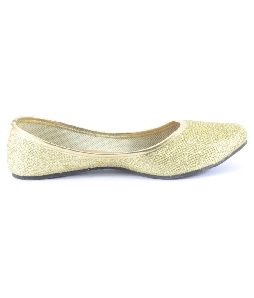 Tamanna Gold Flat Ethnic Footwear