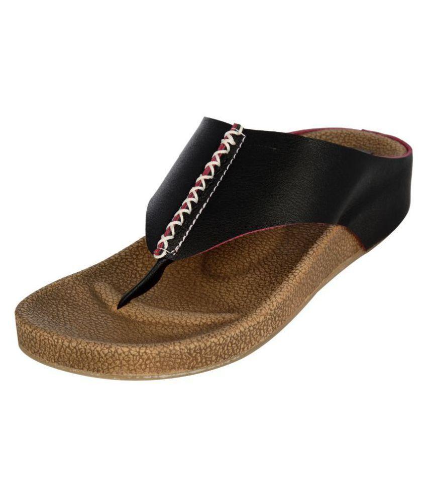 San Lee Black Wedges Heels
