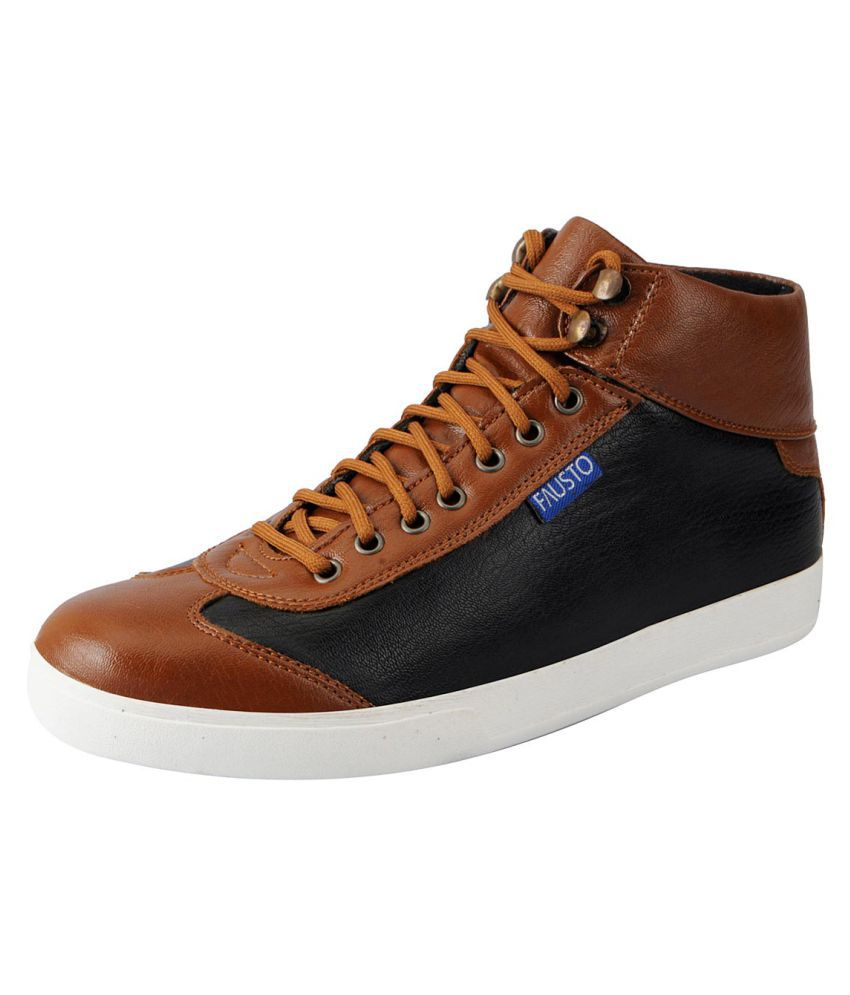 Fausto Sneakers Brown Casual Shoes