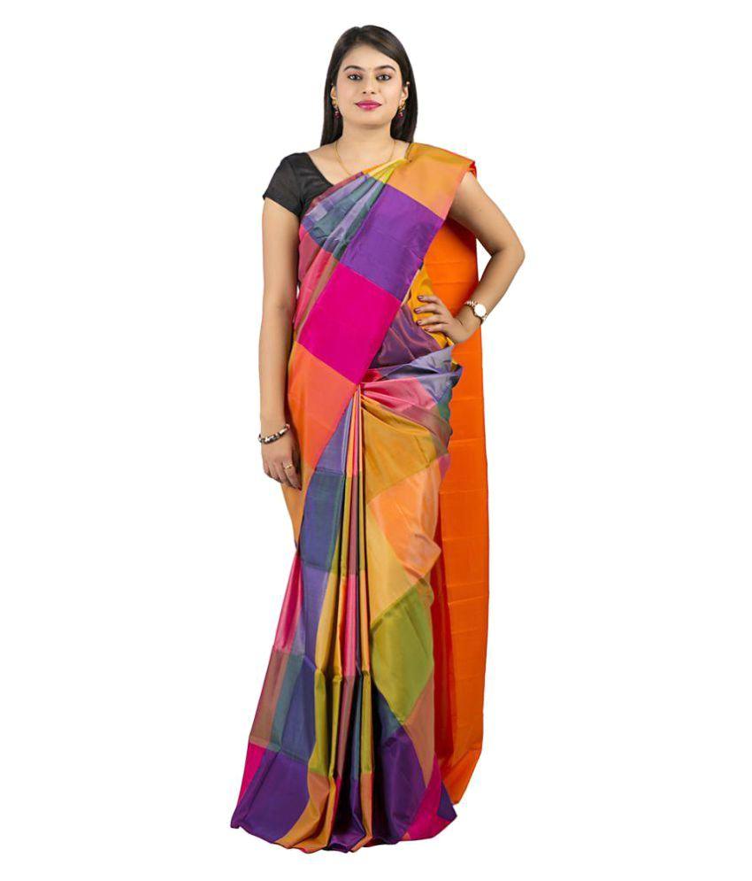Abhisilks Multicoloured Uppada Silk Saree